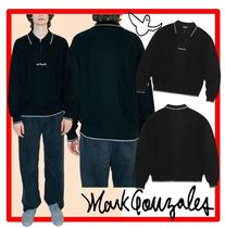 ☆韓国の人気☆【Mark Gonzales】☆HALF ZIP-UP POLO KNI.T☆