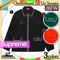 20FW /Supreme Checkerboard Zip Up Sweater チェッカーボード