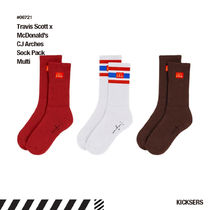 人気話題コラボ!Travis Scott McDonald CJ Arches Sock Pack