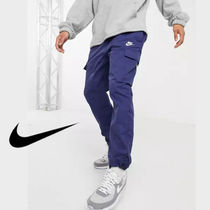 【ストリート必見】Nike Essentials Blue Cargo Jogger Pants
