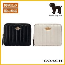 【COACH】Small Zip Around Wallet Linear Quilting◆国内発送◆