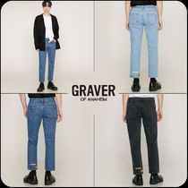 [GRAVER]★韓国大人気★THIS NAME smile whiteclip denim pants