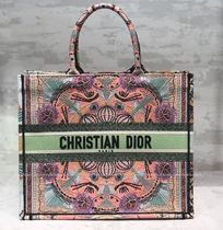 """☆Dior☆""""Book Tote"""" Dior In Lights刺繍 ラージ*トートバッグ"""