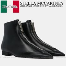 STELLA McCARTNEY ZIPIT ANKLE BOOTS IN SHINY ALTER NAPPA