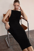 """""""COS"""" 新作☆BACKLESS KNITTED SLIP DRESS(black)"""