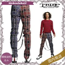 TRIPP NYC☆SPLIT LEG ボンテージパンツ Black/Purple