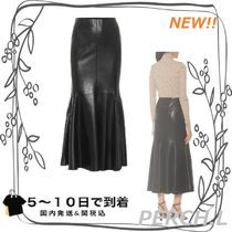★関税送料込★Artem faux leather midi skirt
