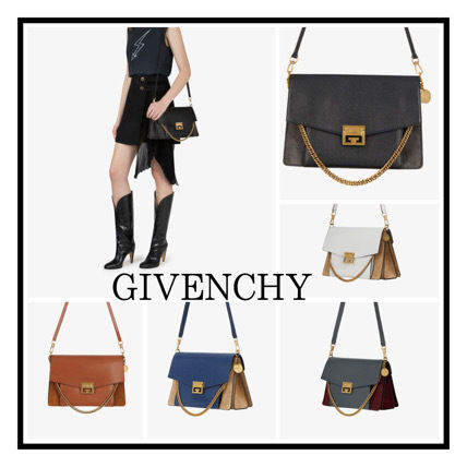 GIVENCHY☆MEDIUM GV3 BAG IN TWO-TONE LEATHER BK/WT/BN/BL/GY