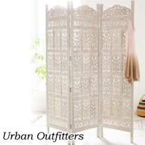 ★URBAN OUTFITTERS★Amber Carved Wood Divider スクリーン