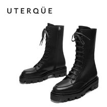 【Uterque】TRACK FLOOR LACE BOOTS