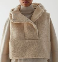 """COS"" TEDDY HOODED HYBRID VEST BEIGE"