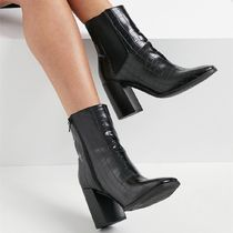 Pimkie moc croc heeled boots with elastic panel