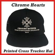 Chrome Hearts Printed Cross Trucker Hat Black