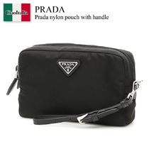 Prada nylon pouch with handle
