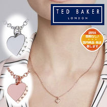 【TED BAKER】素敵 ♪ ロゴ入り ハートネックレス《2色》