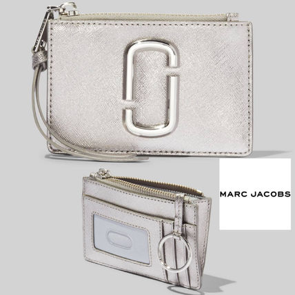 MARC JACOBS THE SNAPSHOT METALLIC DTM TOP-ZIP MULTI WALLET