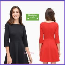 【kate spade】上品ワンピース♪ boat neck ponte dress ★