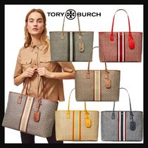 [TORY BURCH] SALE!! Gemini Link Canvas Top-Zip Tote Bag