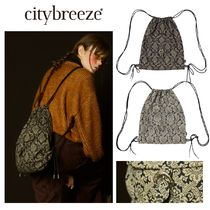 【citybreeze】CITY PAISLEY GYM SACK ナップサック 2colors