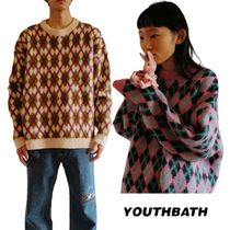 【YOUTHBATH】20fw BRUSH ARGYLE KNIT アーガイルニット 2色