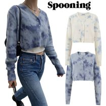 【SPOONING】HAND-DYING SCOOP CARDIGAN カーディガン 2色
