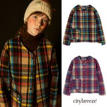 【citybreeze】CITY CHECK QUILTING JACKET 2colors