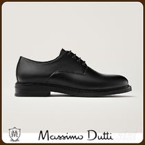 MassimoDutti♪BLACK LEATHER DERBY SHOES