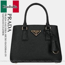 PRADA PRADA GALLERIA MICRO HANDBAG IN SAFFIANO LEATHER