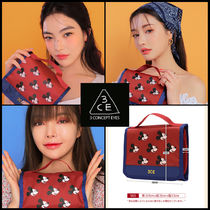 ☆ 3CE ☆ Disney 3CE WASH BAG SMALL RED ☆ 2色