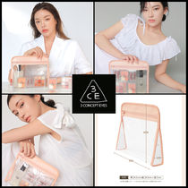 ☆ 3CE ☆ 3CE CLEAR TRIANGLE POUCH PINK ☆ 2種