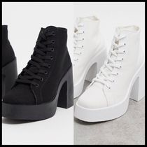 ASOS DESIGN Elevate lace up canvas boot