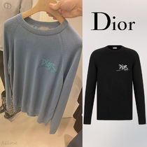 Dior▼【直営・正規品】DIOR AND SHAWN ロゴ カシミア セーター