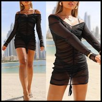 Public Desire XCARMS mesh ruched beach dress