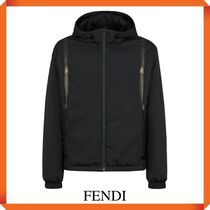 FENDI Logo Tape Hooded Jacket