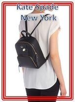 関税送料込 kate spade new york leather carter caden backpack