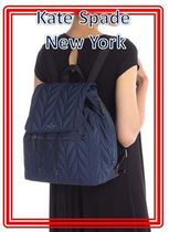 関税送料込 kate spade new york ellie  flap quilted backpack