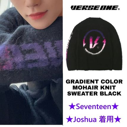 【Verse one】GRADIENT COLOR MOHAIR KNIT ★Seventeen 着用★