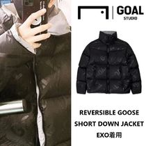 【GOALSTUDIO】REVERSIBLE GOOSE SHORT DOWN JACKET ★EXO着用★