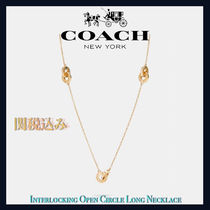 COACH OUTLET★Circle Long ネックレス【BLACK FRIDAY SALE】