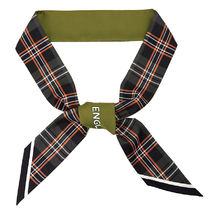 BURBERRY★Unisex Check Logo silk Scarf_CHK BLE TEXT 8035895
