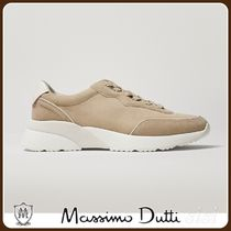 MassimoDutti♪TRAINERS WITH LEATHER PIECE SOLE