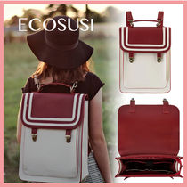 ☆最新!送料関税込☆ECOSUSI Red Stripe Laptop Backpack