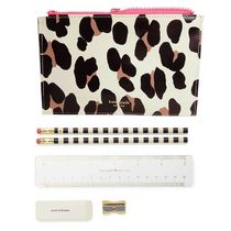 即納Kate spadeNY Forest Feline pencil pouch文具付き204447
