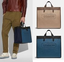 Coach ◆ C1049 Field tote 40 in colorblock with coach badge