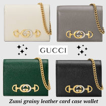 完売前に!!全4色!!★GUCCI★Zumi grainy leather card wallet