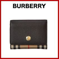 ★Burberry★Vintage Vintage Check & Leather French Purse