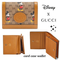 限定デザイン!!レア★GUCCI★x★DISNEY★GG card case wallet