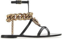 Dolce & Gabbana◇BLACK LEATHER THONG SANDALS