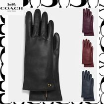 【Coach】Leather Tech Gloves◆シグニチャーロゴレザーグローブ