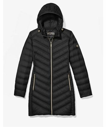 セール Michael Kors Quilted Nylon Packable Puffer Coat